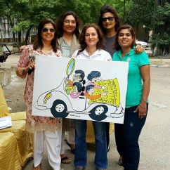 With Feica's cartoon